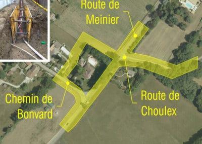 Chemin de Bonvard à Choulex