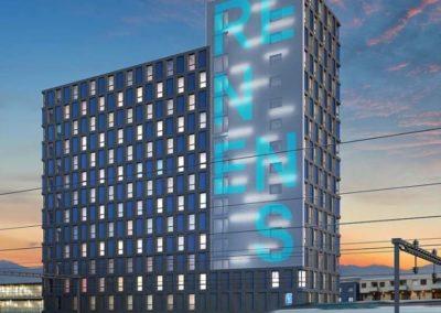 Immeuble Silo-Bleu à Renens