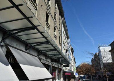 Marquise rue du Mont-Blanc à Genève