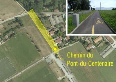 Chemin du Pont-du-Centenaire à Plan-les-Ouates